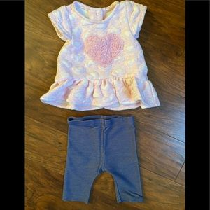 Pippa & Julie T-Shirt and Jeggings 6-9 Months